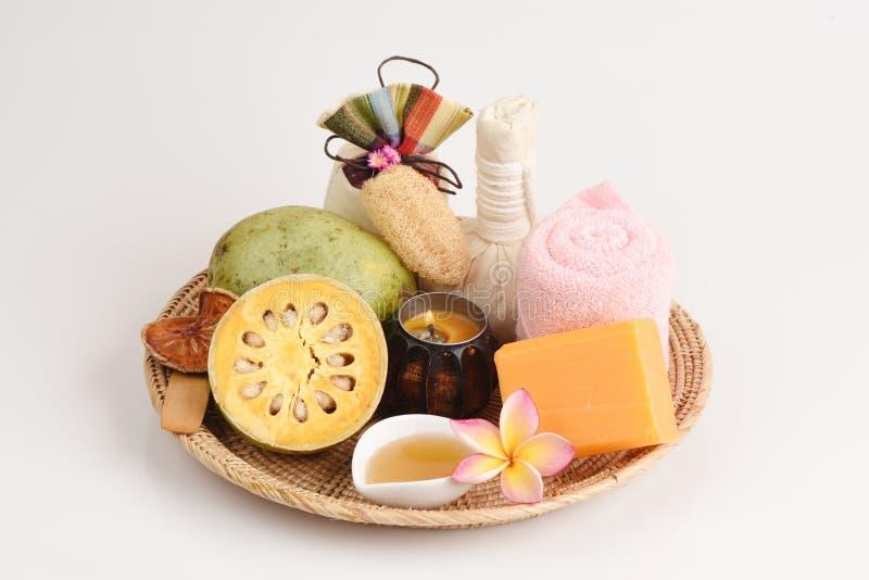 Kruidenzeep, Vers Bael en te ontspannen honingsaroma stock fotografie