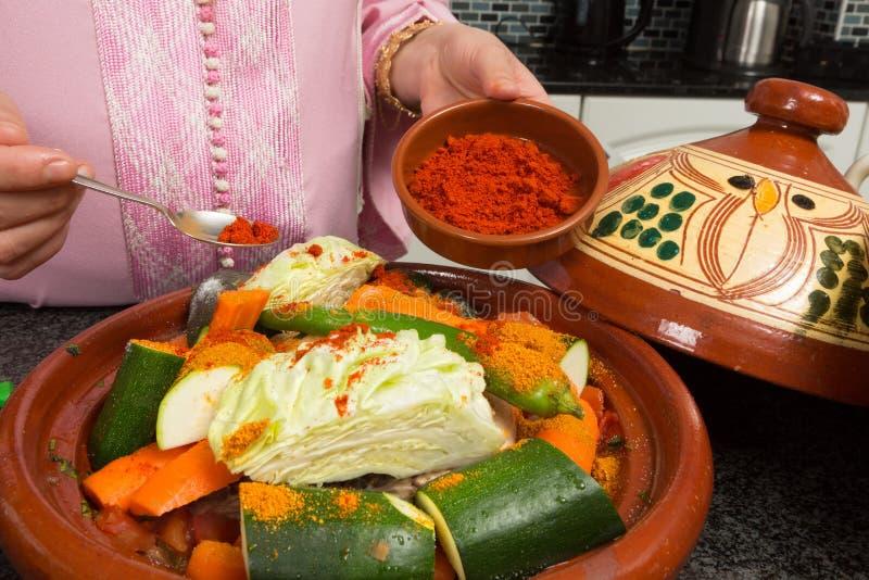 Kruidig Marokkaans voedsel stock afbeeldingen
