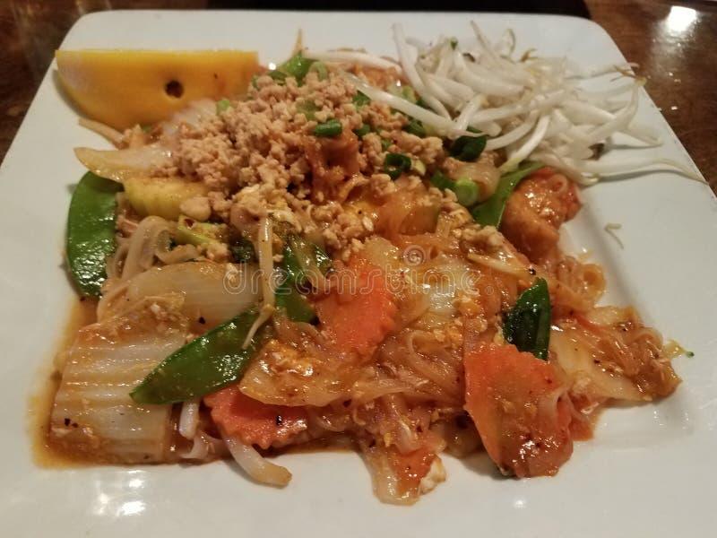 Kruidig vegetarisch Stootkussen Thai royalty-vrije stock foto's