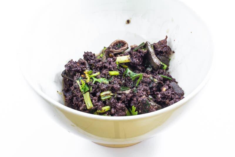 Kruidige gehaktsalade, Thais voedsel royalty-vrije stock foto's