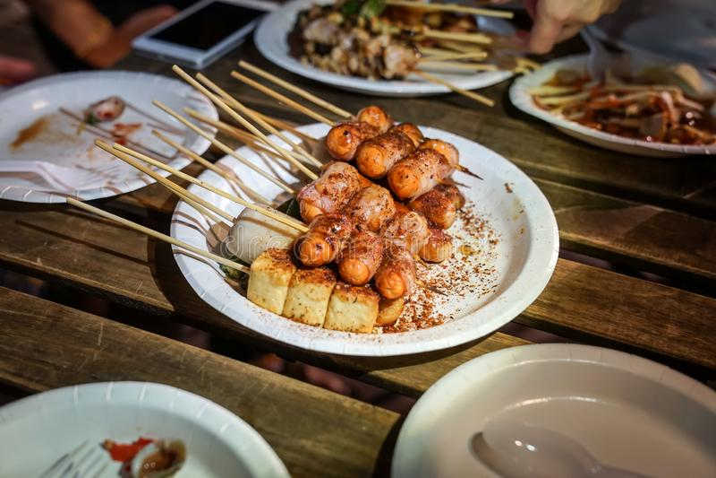 Kruidige Mala Chinese het Varkensvlees Thaise Stijl Van De