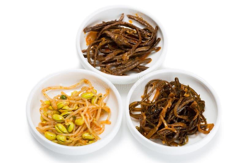 Kruidige salades van Voedsel Koreaanse keuken royalty-vrije stock foto's