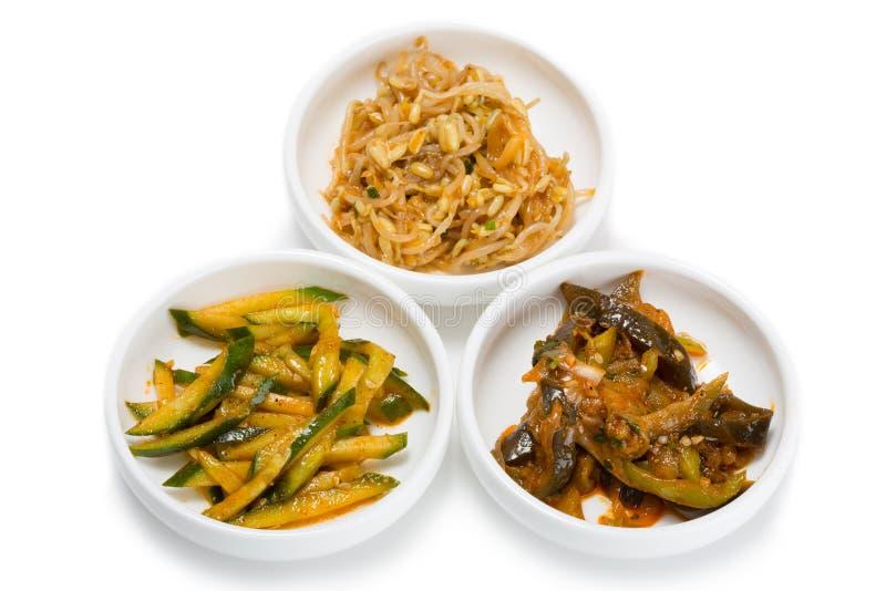 Kruidige salades van Voedsel Koreaanse keuken royalty-vrije stock afbeelding