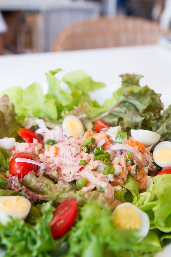 Kruidige tonijnsalade stock foto