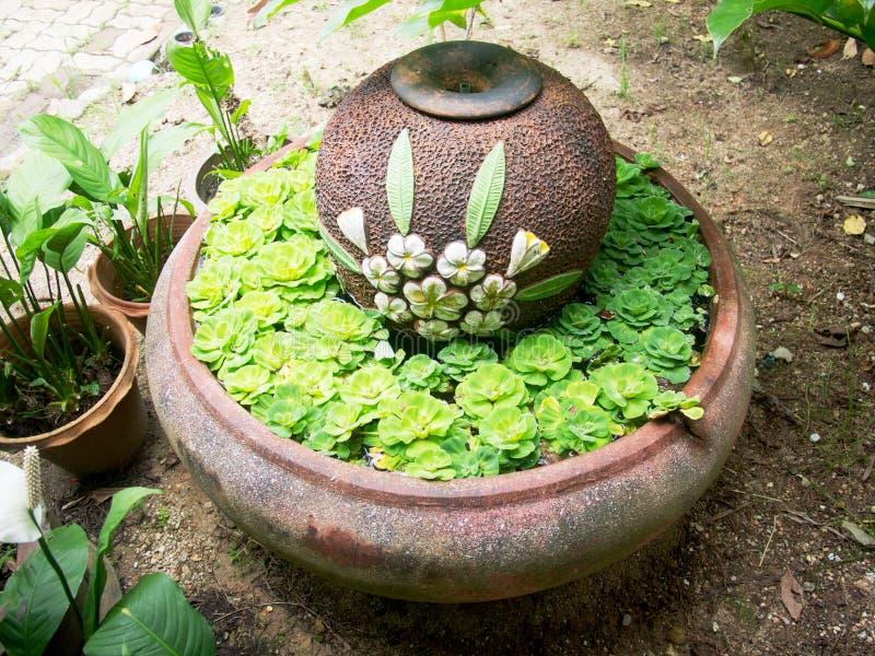 Kruik en gootsteen in de tuin royalty-vrije stock afbeelding