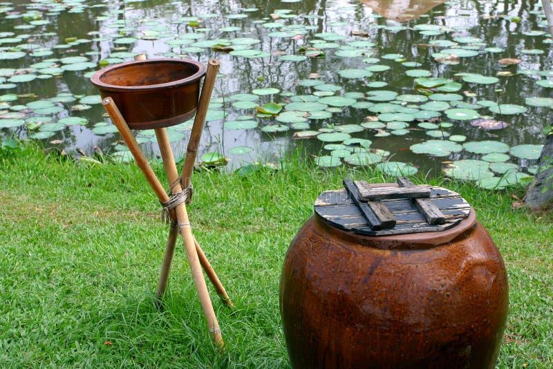 Kruik en pot stock afbeelding