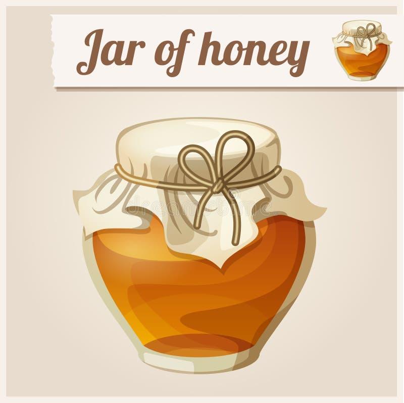 Kruik honing vector illustratie
