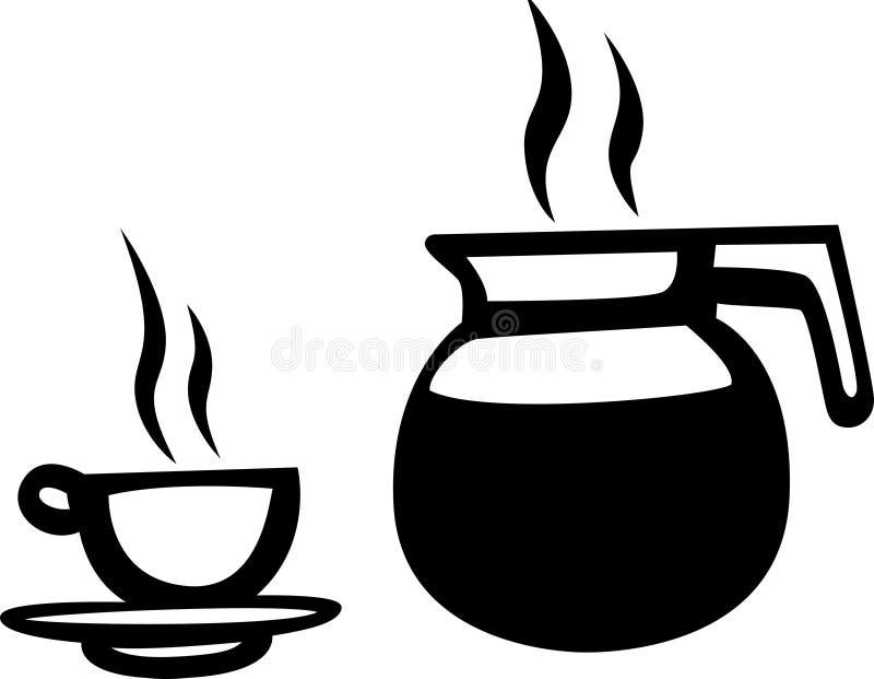 Kruik koffie royalty-vrije illustratie