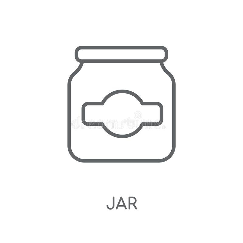 kruik lineair pictogram Modern het embleemconcept van de overzichtskruik op witte backgr stock illustratie
