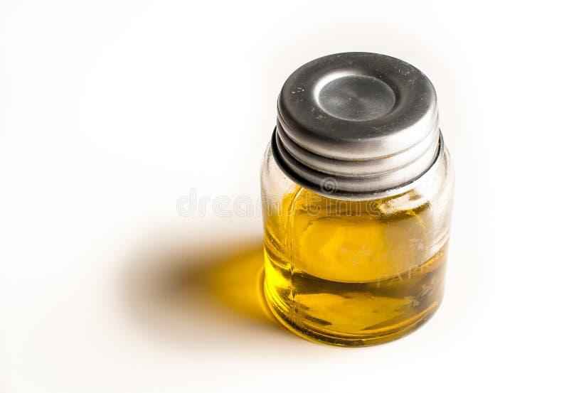 Kruik met olijfolie royalty-vrije stock foto's