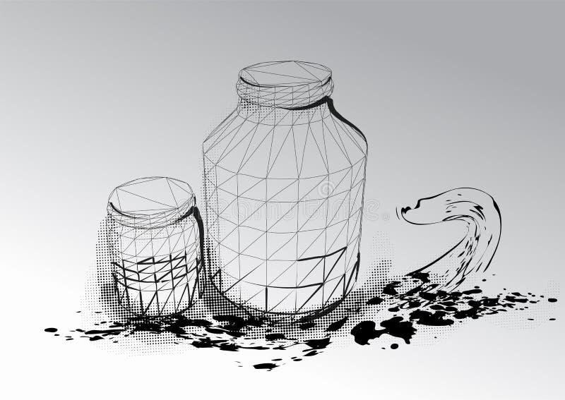 kruiken stock illustratie
