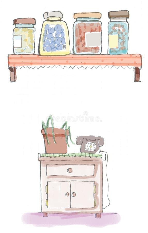 Kruiken vector illustratie