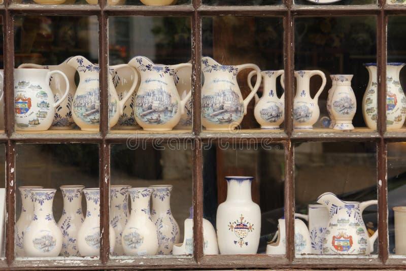 Kruiken en vazen Chenonceau frankrijk royalty-vrije stock afbeeldingen