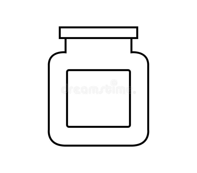 Kruikpictogram vector illustratie