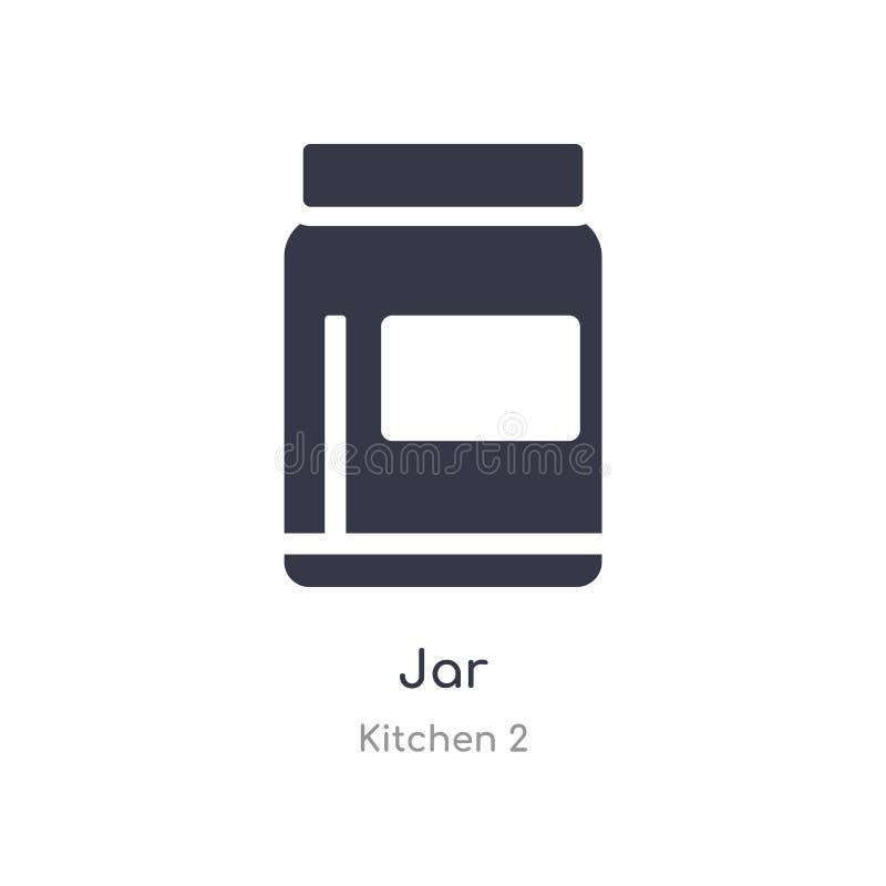 Kruikpictogram de geïsoleerde vectorillustratie van het kruikpictogram van keuken 2 inzameling editable zing symbool kan gebruik  stock illustratie