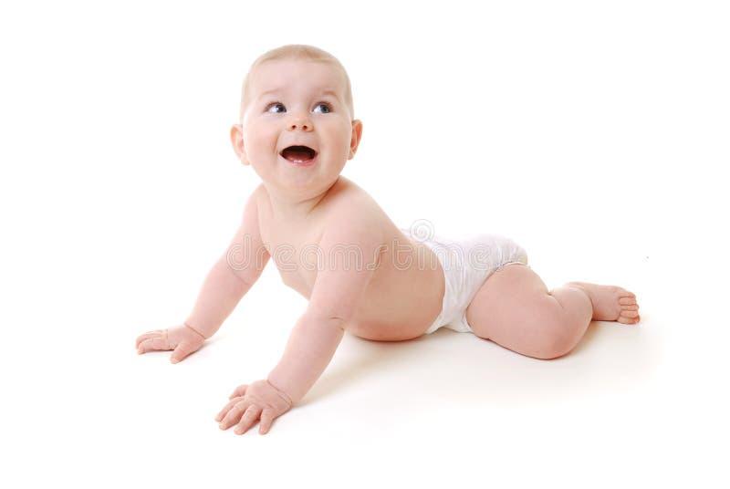 Kruipende baby stock fotografie