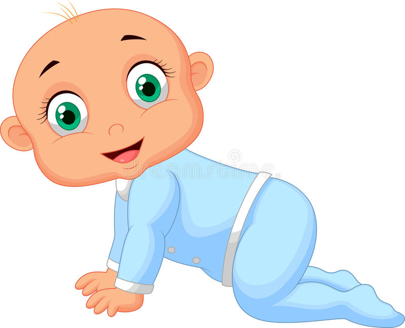 Kruipende Baby stock illustratie