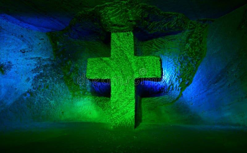 Kruis bij de Zoute Kathedraal stock afbeeldingen