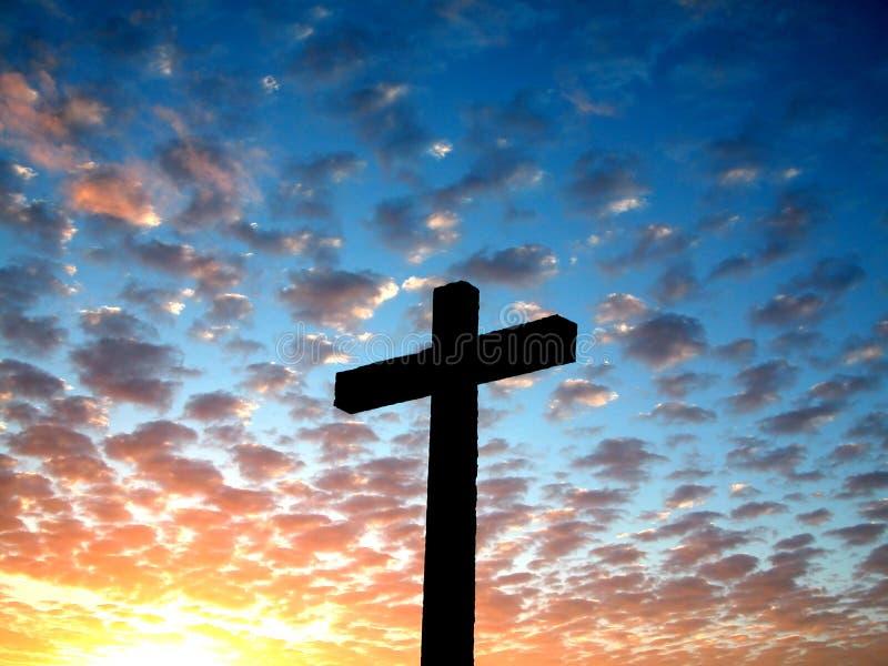 Kruis in de hemel royalty-vrije stock afbeelding