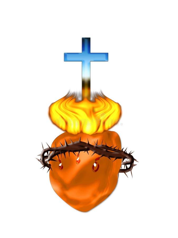 Kruis en hart royalty-vrije illustratie