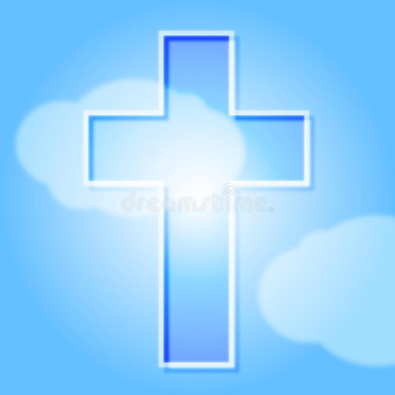 Kruis en hemel stock illustratie