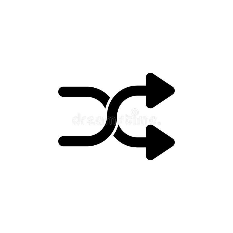 Kruis, het pictogram van schuifelgangpijlen De tekens en de symbolen kunnen voor Web, embleem, mobiele toepassing, UI, UX worden  royalty-vrije illustratie