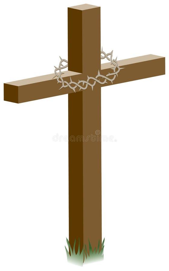 Kruis met Kroon van Doornen royalty-vrije illustratie