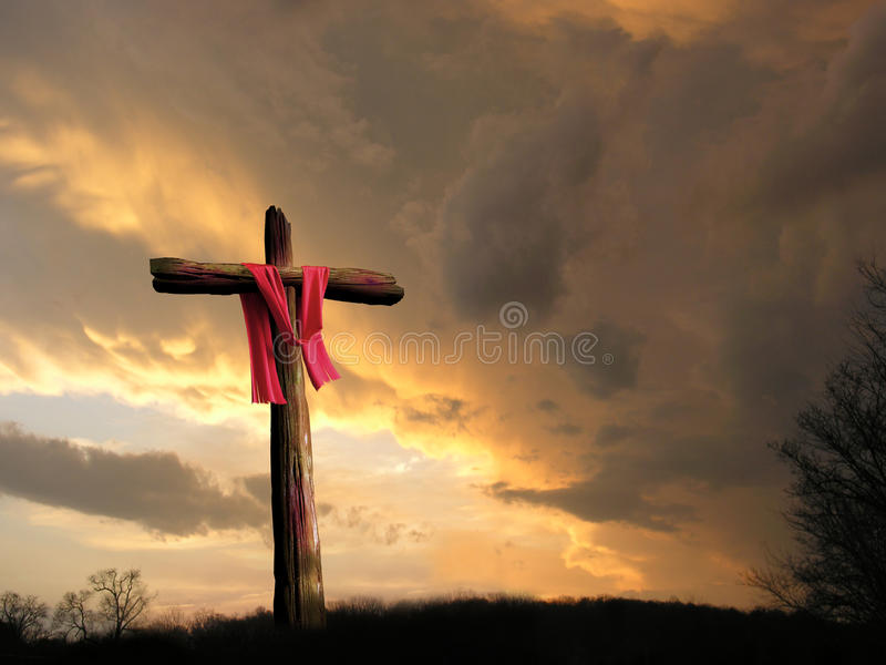 Kruis in Onweer royalty-vrije stock foto