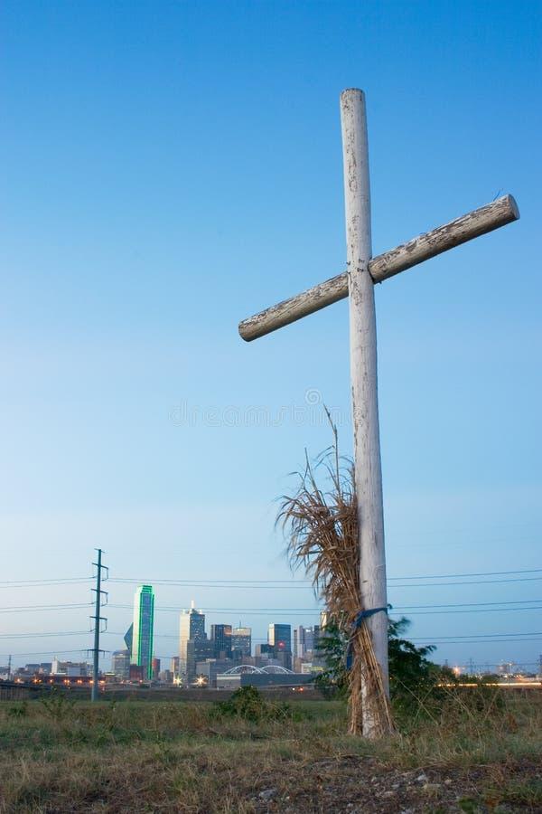 Kruis op een Heuvel dichtbij Dallas royalty-vrije stock fotografie