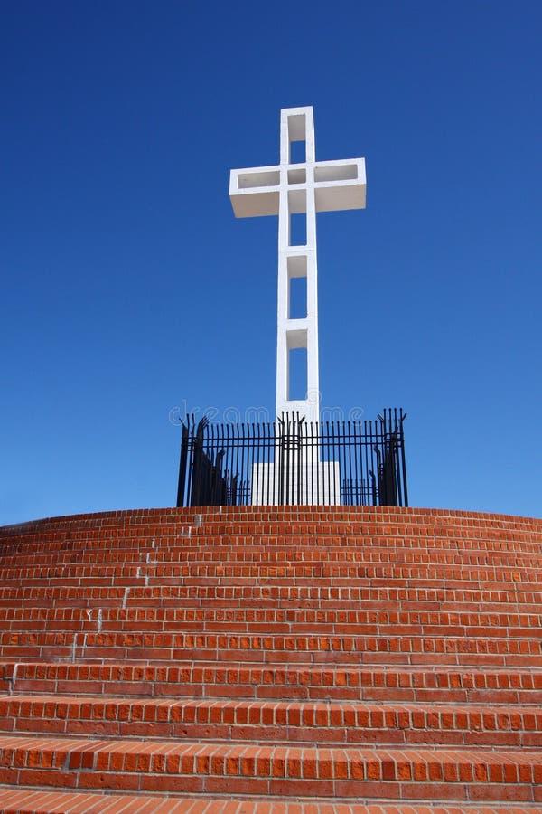 Kruis op Mt. Soledad royalty-vrije stock fotografie
