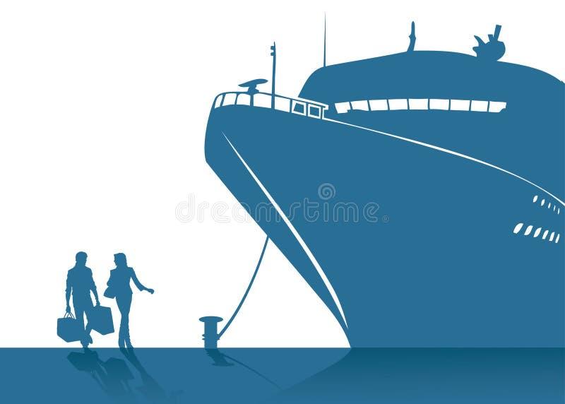 Kruis schip vector illustratie