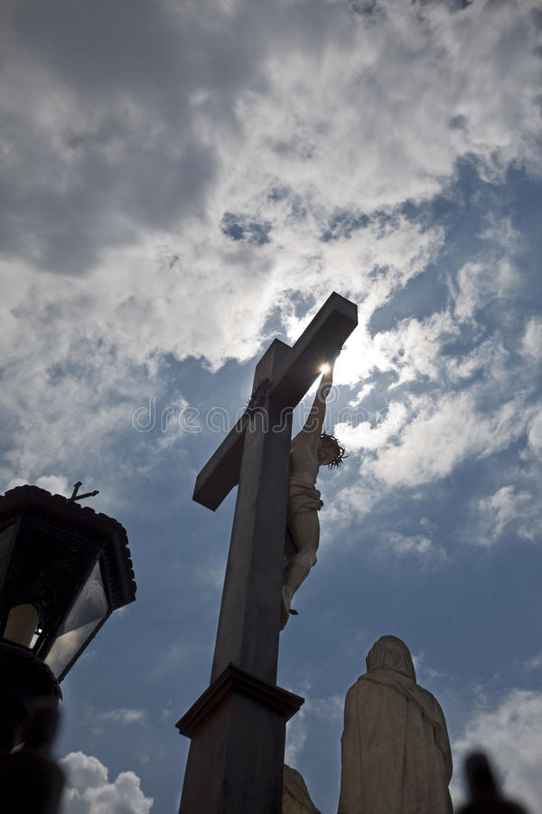 Kruisbeeld bij het Paleis van de pausen. royalty-vrije stock foto
