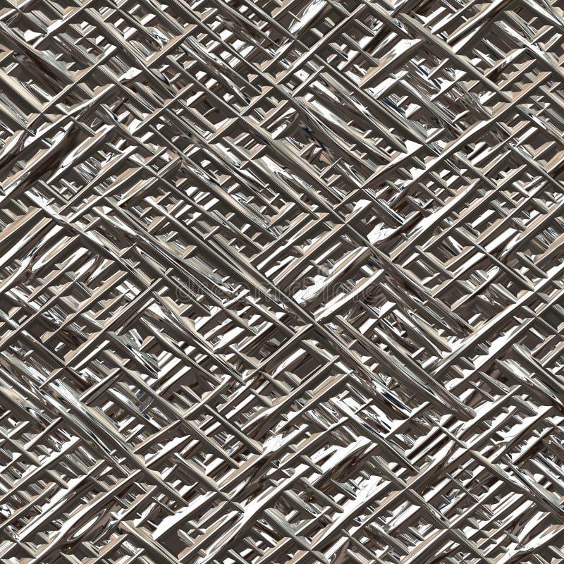 Kruisbroedstralen van chroom en glanzend metaal Naadloze textuur royalty-vrije illustratie