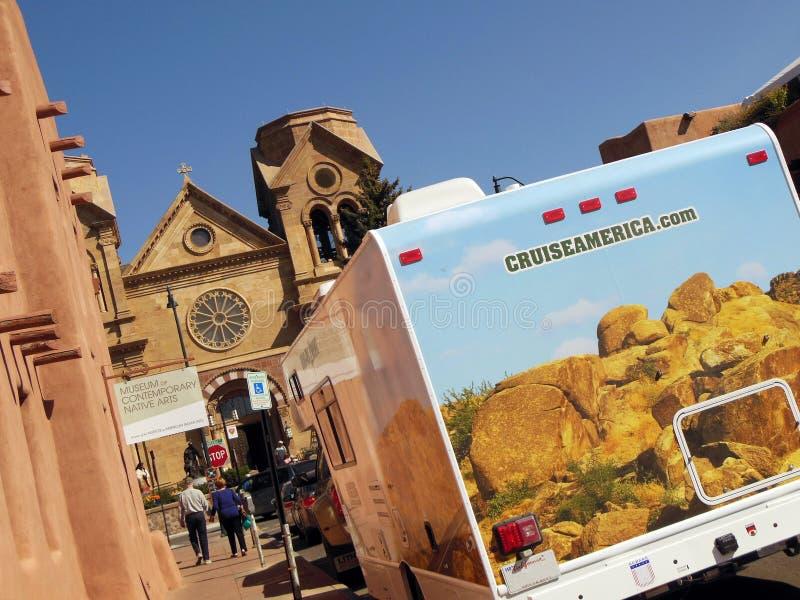 Kruisende Santa Fe, New Mexico royalty-vrije stock foto