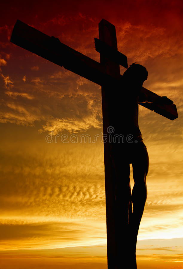 Kruisiging van Jesus royalty-vrije stock foto