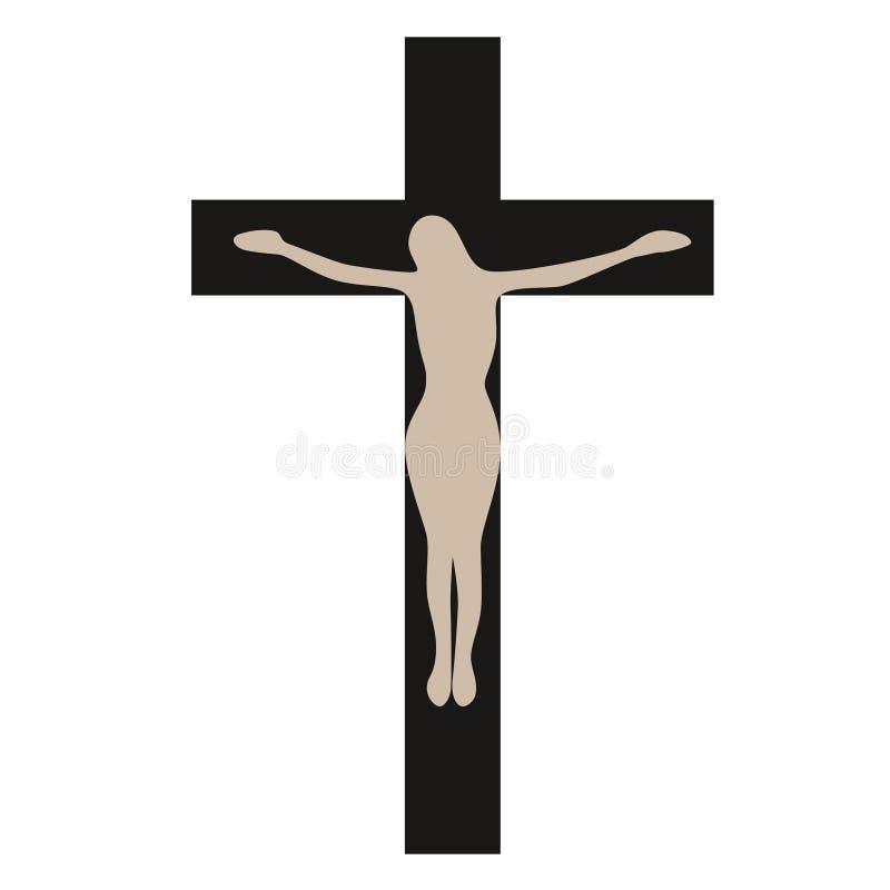 Kruisigings vlakke illustratie op wit vector illustratie