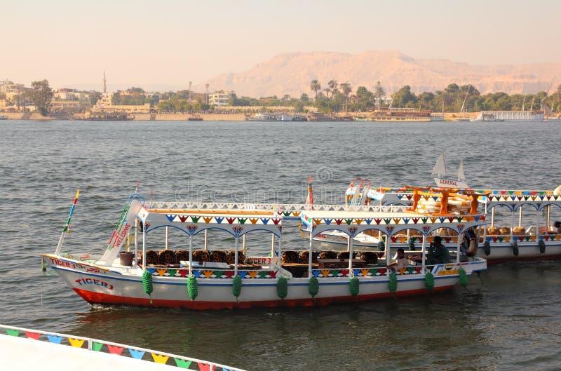 Kruising van de Nijl in Luxor Egypte royalty-vrije stock foto