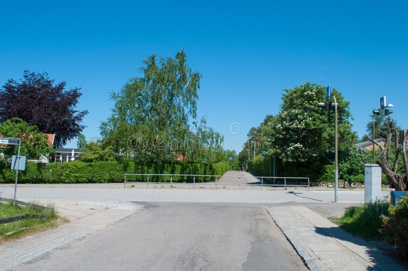 Kruispunt in Allerod in Denemarken stock fotografie