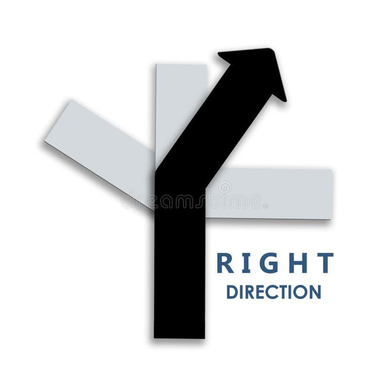 Kruispunten die vier verschillende manieren met met juiste pijl tonen dir vector illustratie