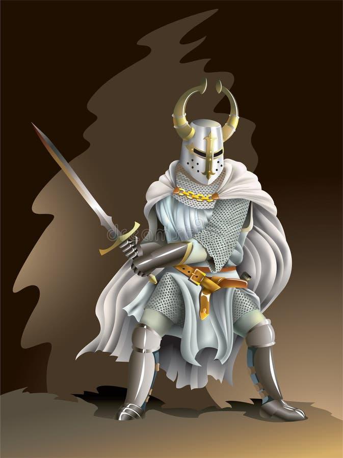 Kruisvaarder stock illustratie
