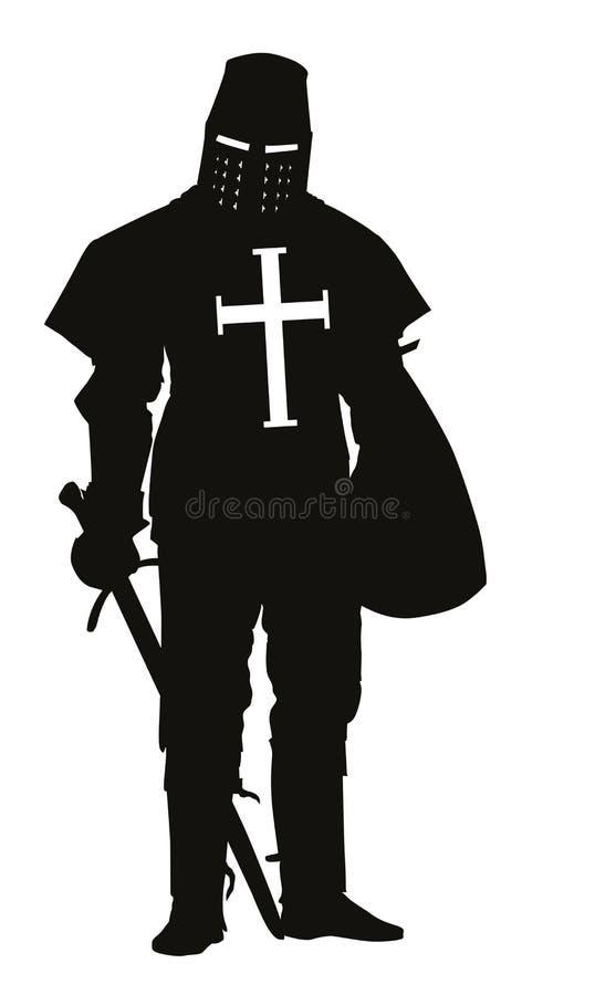 kruisvaarder De strijders als thema hebben stock illustratie
