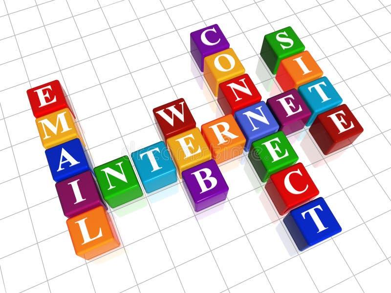 Kruiswoordraadsel 22 - Internet vector illustratie