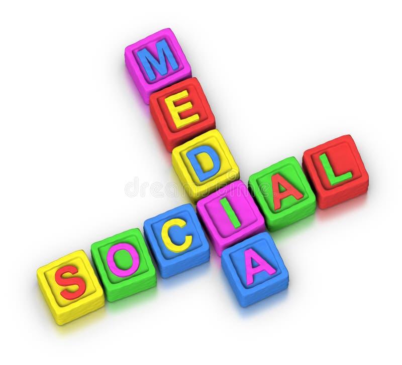 Kruiswoordraadsel: SOCIALE MEDIA stock illustratie