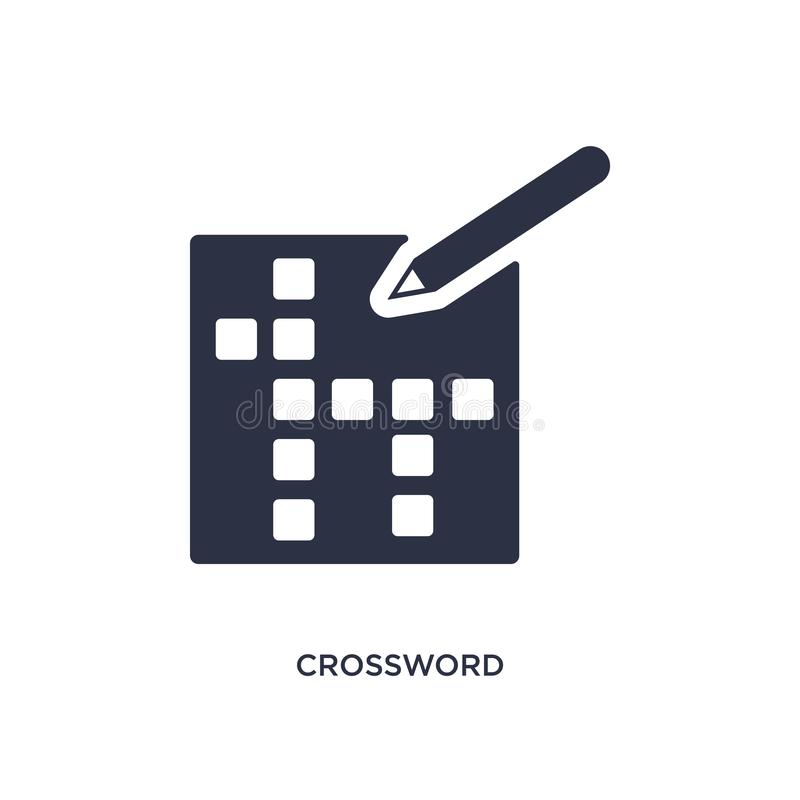 kruiswoordraadselpictogram op witte achtergrond Eenvoudige elementenillustratie van vrije tijdconcept stock illustratie