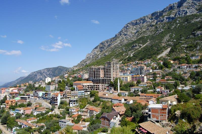 Kruje - Albânia imagem de stock