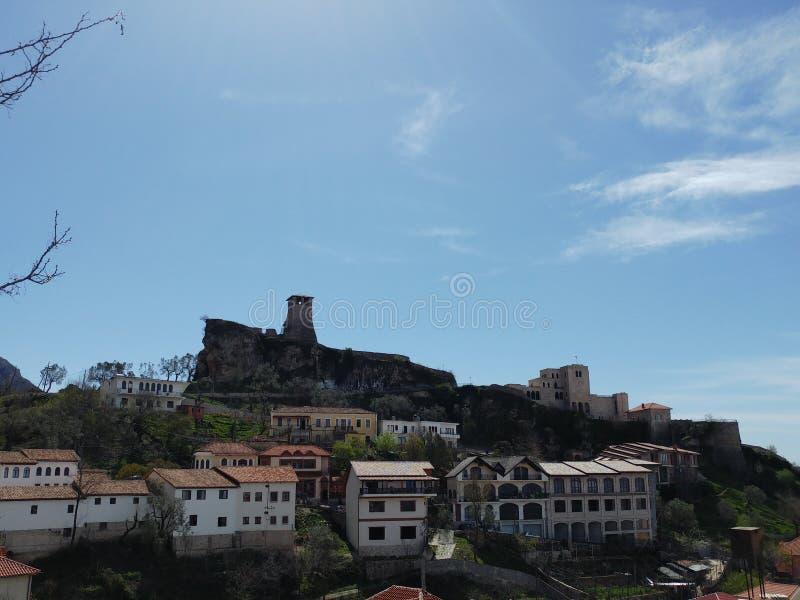 Kruje slott arkivbild