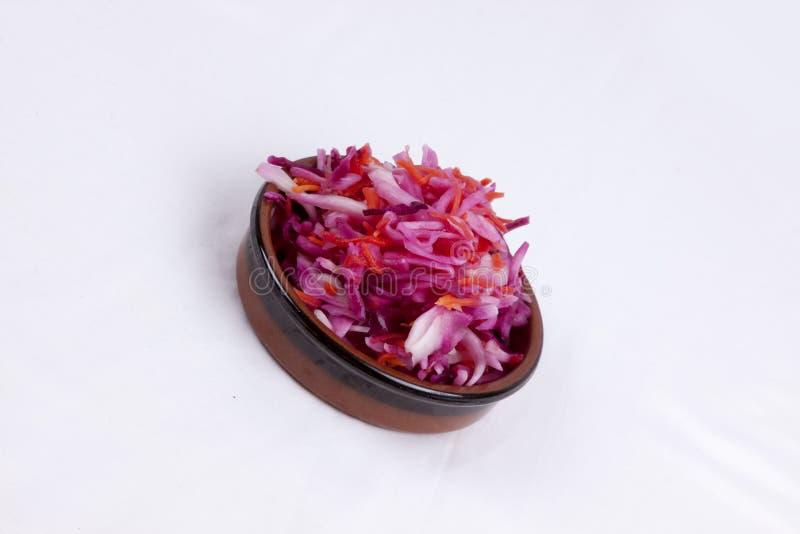 kruka av rosa kålsallad royaltyfri foto