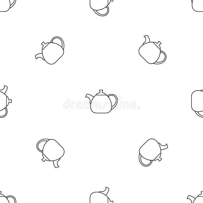 Kruka buktad sömlös vektor för kokkärlmodell royaltyfri illustrationer