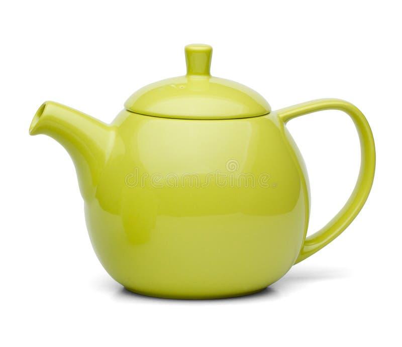 Kruka för grönt te arkivfoto