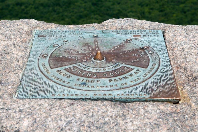 Kruka ` s kurnik Przegapia, Błękitne grani Parkway góry obrazy royalty free